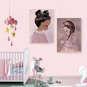 Zestaw plakatów dziecięcych Emilia i Jasmin
