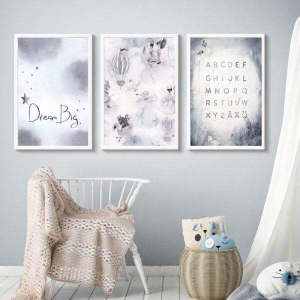 Zestaw plakatów dziecięcych Dream Big