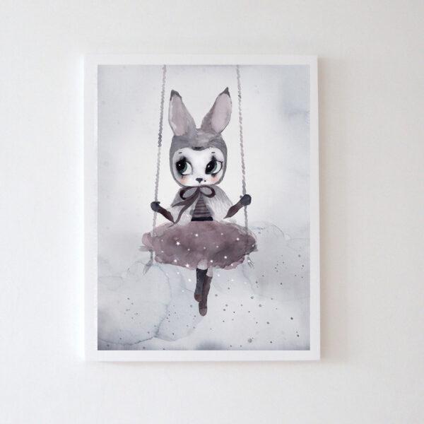 Plakat na ścianę dziewczynka Uula