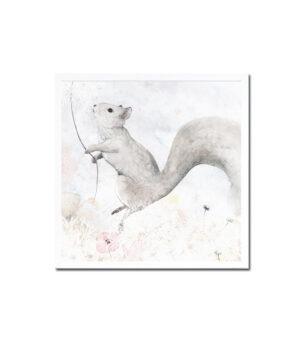 Plakat na ścianę wiewiórka Leni