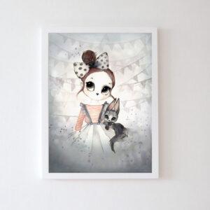 Plakat na ścianę dziewczynka Aila