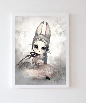 Plakat na ścianę dziewczynka Ilma