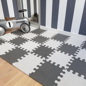 Mata do zabawy dla dzieci mini puzzle szara XL