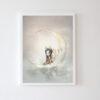 Plakat na ścianę dziewczynka Noora