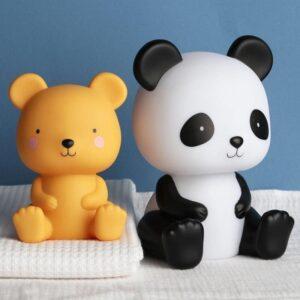 Duża lampka nocna dla dzieci panda
