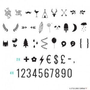 Zestaw do Lightboxa Numbers&Symbols