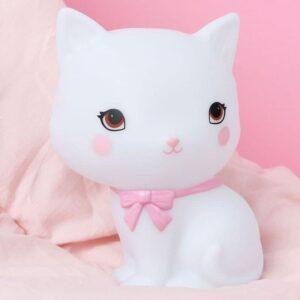 Mała lampka led kotek