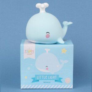 Mała lampka led wieloryb