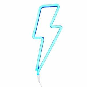 Ĺšwiecąca błyskawica neon świetny niebieski