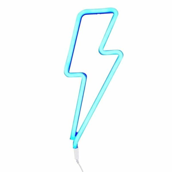 Świecąca błyskawica neon świetny niebieski