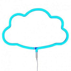 Świecąca chmurka neon świetny niebieski
