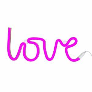 Świecący napis love neon świetny różowy