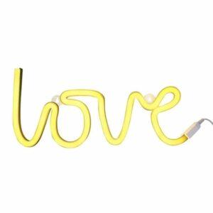 Świecący napis love neon świetny żółty