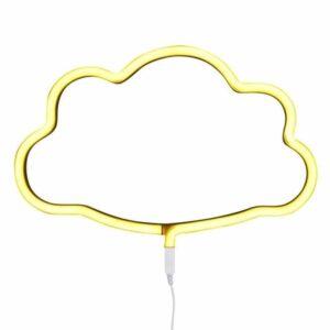 Świecąca chmurka neon świetny żółty