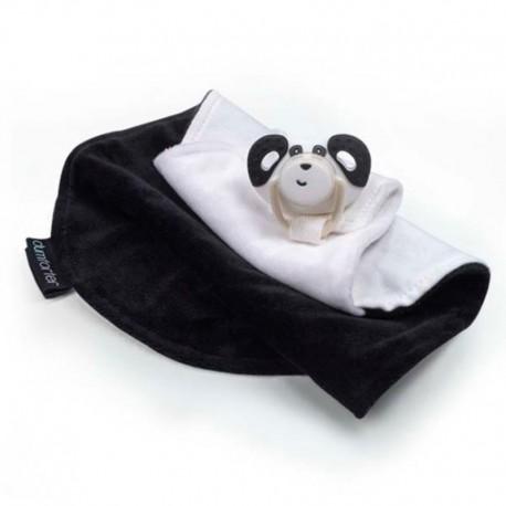 Kocyk przytulanka z smoczkiem panda Papper