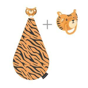 Kocyk przytulanka z smoczkiem Tygrys Terry