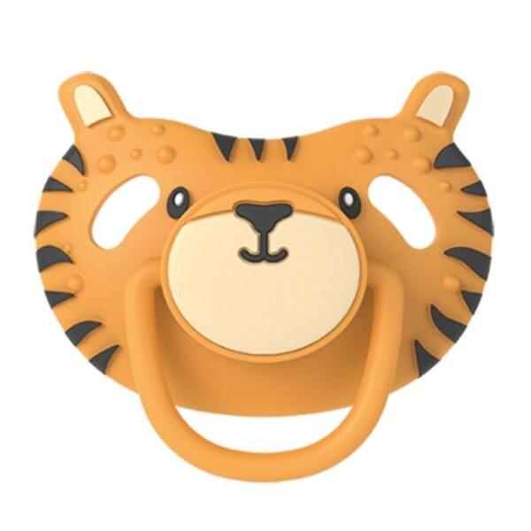 dumforter 3in1 smoczek z gryzakiem kocyk przytulanka tygrys terry 600x600 - Kocyk przytulanka z smoczkiem Tygrys Terry