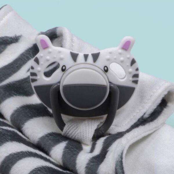 Kocyk przytulanka z smoczkiem Zebra ZsaZsa