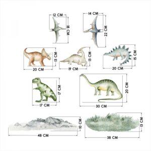 Naklejki na ścianę dinozaury zestaw DK396