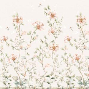 Tapeta na ścianę rajski ogród beige