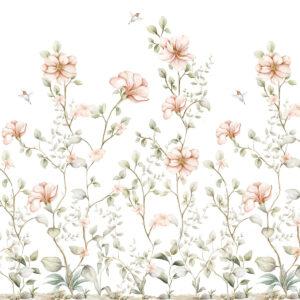 Tapeta na ścianę rajski ogród pastel