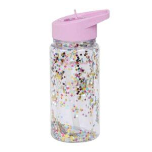 Bidon ze składanym ustnikiem Glitter pink/multicolor