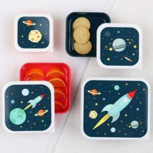 Śniadaniówka dla dziecka kosmos 4 szt