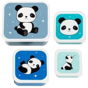 Śniadaniówka dla dziecka panda 4 szt