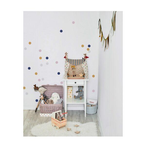 Naklejki na ścianę confetti lila