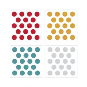 dekornik konfetti4 3 595x595 300x300 - Naklejki na ścianę confetti czerwień