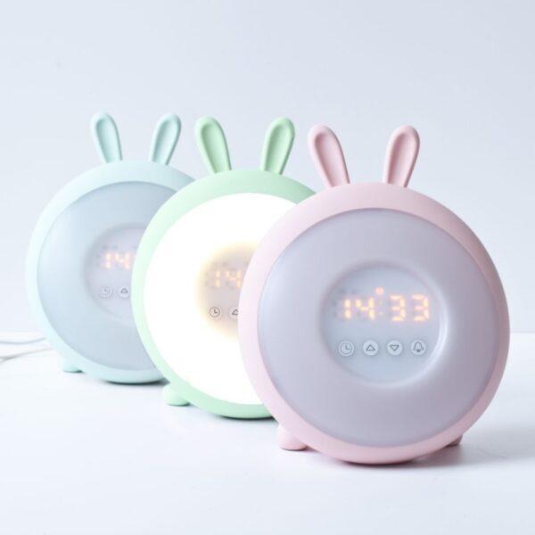 Lampka led dla dzieci króliczek róż