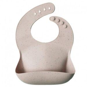 Śliniak silikonowy shirting Sand Terazzo