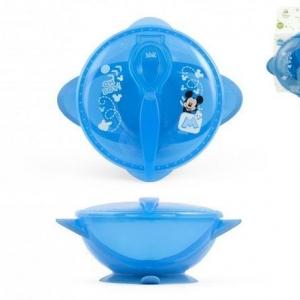 Miseczka dla dzieci z pokrywką Myszka Minnie niebieska