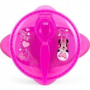 Miseczka dla dzieci z pokrywką Myszka Minnie różowa