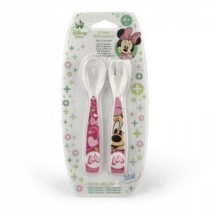 Sztućce dla dziecka Myszka Minnie różowe