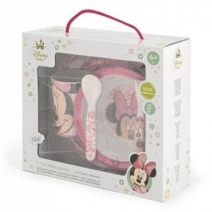 Zestaw naczyń dla dziecka Myszka Minnie różowy