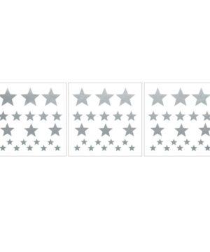 Naklejki na ścianę srebrne gwiazdki
