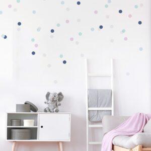 Naklejki na ścianę confetti pastele