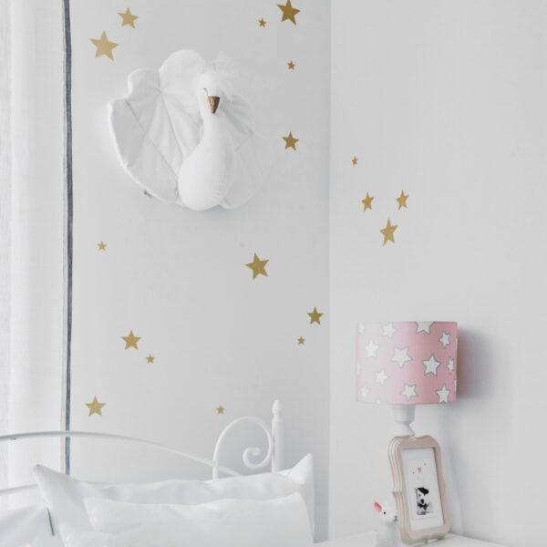 Naklejki na ścianę złote gwiazdki