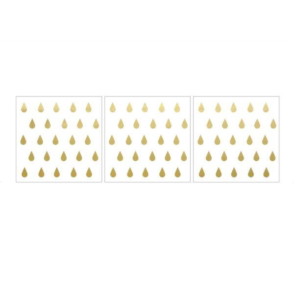 Naklejki na ścianę złote kropelki