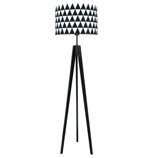Lampa podłogowa czarne trójkąty