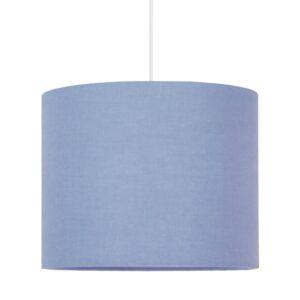 Lampa sufitowa mini zgaszony błękit len