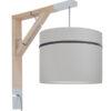 Lampa ścienna Simple porcelanowy szary