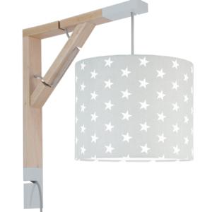 Lampa ścienna Simple gwiazdki na szarym