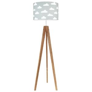Lampa stojąca chmurki na szarym