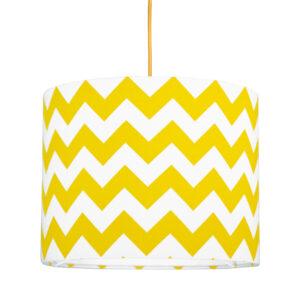 Lampa sufitowa mini chevron żółty