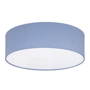 Plafon sufitowy zgaszony błękit len