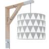 Lampa ścienna Simple szare trójkąty
