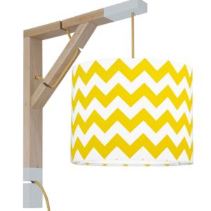 Lampa ścienna Simple chevron żółty