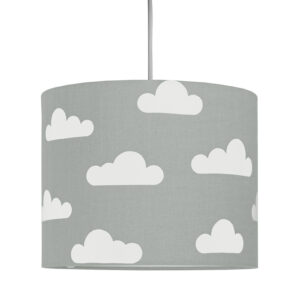 Lampa sufitowa mini chmurki na szarym